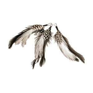 Midwest Design Natural Feather Picks 3/Pkg 5 Black/White