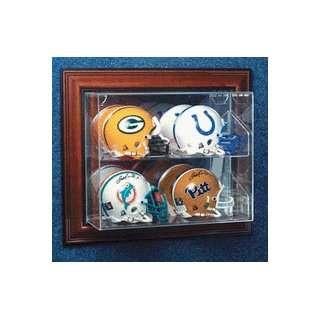 Up 4 Mini Football Helmet Display Case with Engraved NFL Team Logo