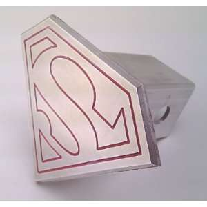 Trailer Hitch Cover Tow Plug Superman Logo Custom CNC