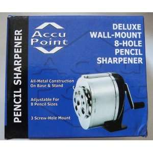 Deluxe Wall Mount 8 Hole Pencil Sharpener Toys & Games