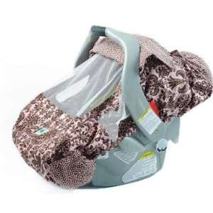 Turltle Toppy Pink/Brown Retro Floral  Car Seat Cover Toys & Games