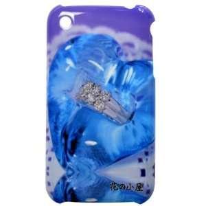 Beautiful Heart and Diamond Ring Pattern Plastic Hard Case