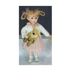 16 Porcelain Doll with Teddy Bear Electronics