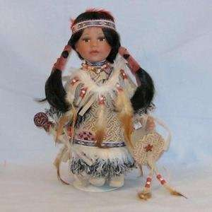 Golden Keepsakes Porcelain Doll Kimama with Drum Toys