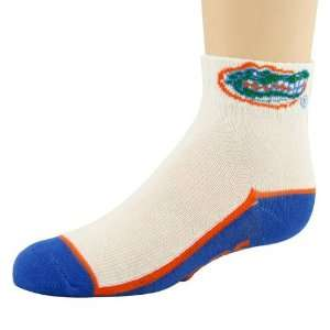 Florida Gators Preschool White Royal Blue Quarter Socks