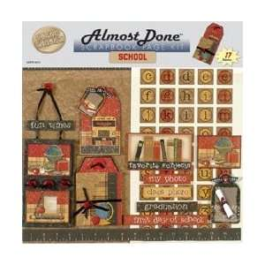 Hot Off The Press Almost Done Page Kit 12X12 School ADPK 5721; 2