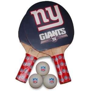 NFL New York Giants Table Tennis Racket And Ball Set
