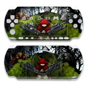Lil Red Design Decorative Protector Skin Decal Sticker for Sony PSP