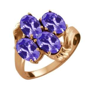 3.00 Ct Oval Blue Tanzanite 14k Rose Gold Ring Jewelry