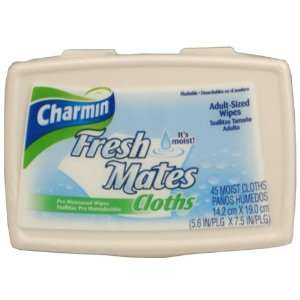 Charmin Fresh Mates Pre Moistened Wipes, Adult Sized   45