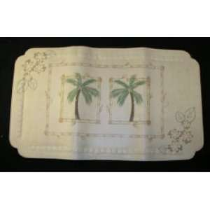 PALM tree Tropical vinyl BATH Tub shower MAT bathroom: Home & Kitchen