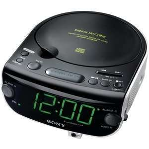 New Sony ICFCD815   AM/FM/MP3/CD Clock Radio, Black