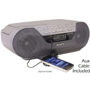 Sony Portable Digital Tuner AM/FM Radio Tape Cassette Recorder & CD