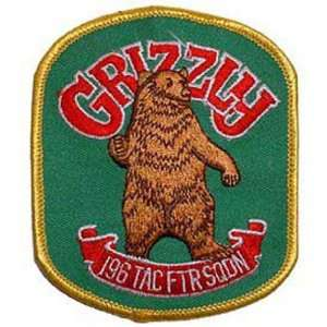 U.S. Air Force Grizzly 196th Tactical Fighter Squadron Patch