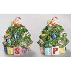 Spode Christmas Tree Green Trim Individual Figurine Salt