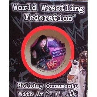 1998 TNA WWE WCW WWF Wrestling Glass Christmas Tree Ornament Ball
