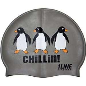 1Line Sports Chillin Silicone Swim Cap