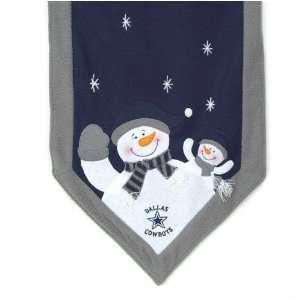 Dallas Cowboys Snowman Table Runner