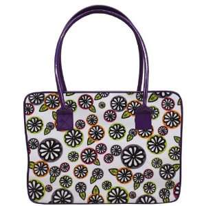 14 Laptop Bag   White and Flowers (White and Flowers