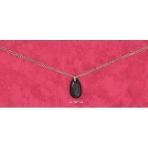 Strand Cable Necklace With Black Onyx Tear Drop Pendant Everything