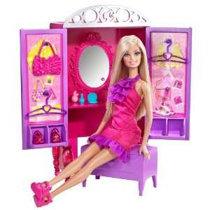 Barbie Dress Up To Make Up Closet and Barbie Doll Set Toys & Games