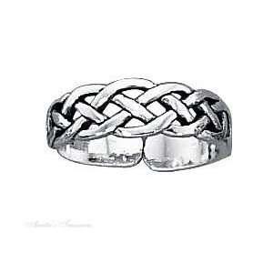 Sterling Silver Celtic Open Weave Toe Ring Jewelry