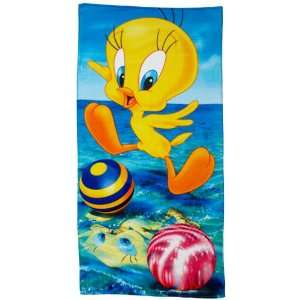 Looney Tunes Tweety Reflections Beach Towel Home & Kitchen