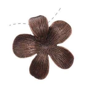 Antiqued Copper Color Whimsical Flower Pendant Link 27.7mm