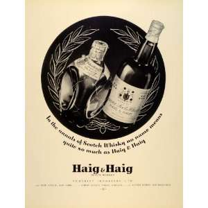Ad Somerset Importers Haig Haig Scot Whisky Drink   Original Print Ad