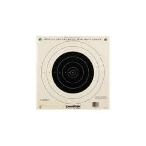 Paper Targets 100 yd. Small Bore Rifle (Single Bull) 12 Pack # 40762