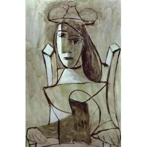 Picasso   24 x 36 inches   Young Girl Struck by Sadness: Home