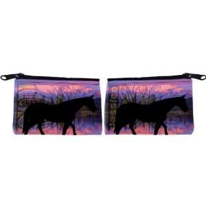 Rikki Knight Horse Silhouette on Mountain Range Design