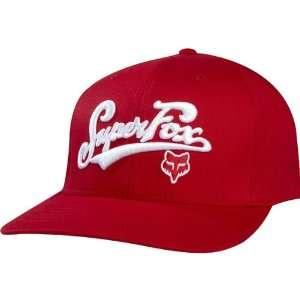 Fox Racing Matchless Mens Flexfit Race Wear Hat/Cap   Red
