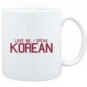 Mug White  LOVE ME, I SPEAK Korean  Languages Sports