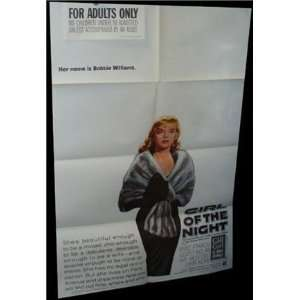 Girl of the Night ANNE FRANCIS ORIGINAL MOVIE POSTER