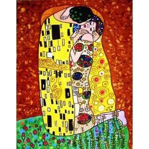 11x14 Decorative Art On Tile   Gustav Klimts The Kiss