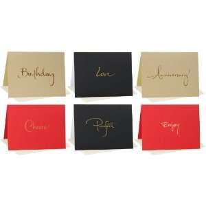 Blank Note Cards Birthday, Love, Anniversary, Cheers, Perfect, Enjoy