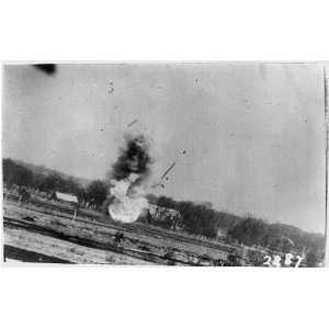 ,hits,ground,being shot,American plane,World War,1944