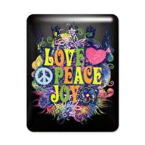 iPad Case Black Love Peace Joy Peace Symbol Sign