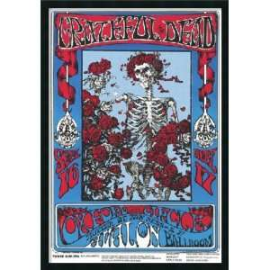 Family Dog   Grateful Dead   Skeleton and Roses Framed with Gel Coated