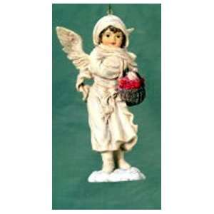Holiday Snow Angel With Basket Christmas Ornament #W7132