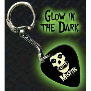 Misfits Glow In The Dark Premium Guitar Pick Keyring