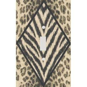 Safari Diamond Zebra Skin Print Decorative Switchplate Cover