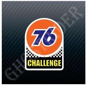76 Challenge Oil Gas Gasoline Fuel Pump Station Vintage Trucks Sticker