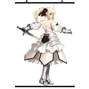 Fate Zero Fate Stay Night Extra Anime Wall Scroll Poster Saber Lily(16