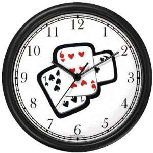 Playing Cards Gambling or Casino Theme Wall Clock by