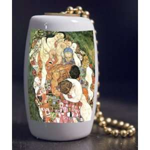 Fine Art Death and Life by Klimt Porcelain Fan / Light Pull