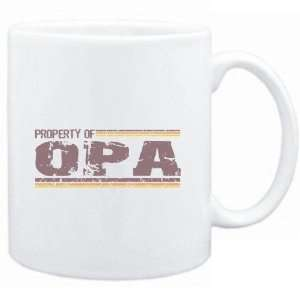 Mug White  Property of Opa   Vintage  Female Names
