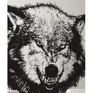 Vinyl Wall Decal Sticker Angry Wolf Item789B