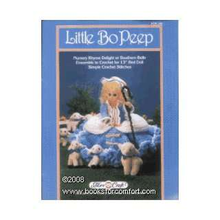 Little Bo Peep, Crochet Pattern for 13 Bed Doll   Book No FCM 148
